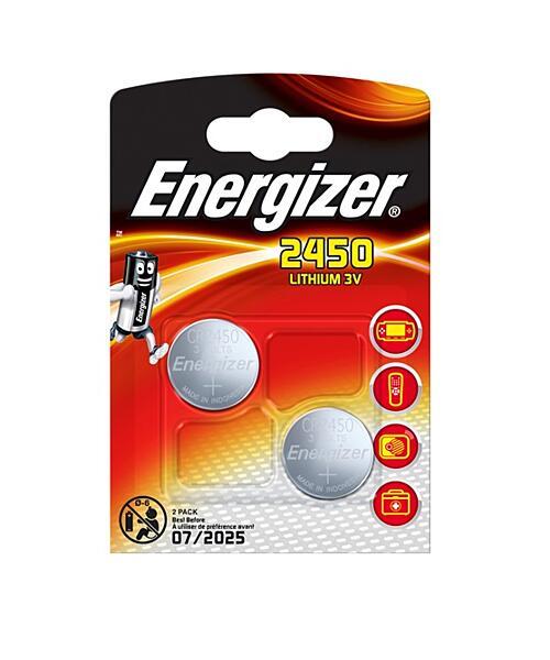 Lithiová knoflíková baterie ENERGIZER CR2450 - 2ks (blistr)
