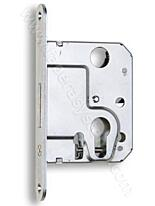 Zadlabací zámek HOBES 2634C (čelo 18mm) BZn