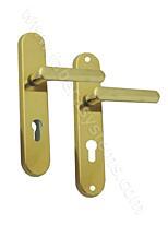 Bezpečnostní kování ROSTEX 807/72/O, oblé, klika/klika, titan