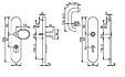 Bezpečnostní kování HOPPE PARIS F1 koule/klika bez překrytu, 92/8, 67-72mm(obj.č.3765674)
