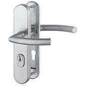 Bezpečnostní kování HOPPE TRONDHEIM s překrytem, klika/klika, nerez, 72/8, 67-72mm