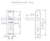 Bezpečnostní kování ROSTEX 807/90/O