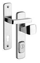 Bezpečnostní kování ROSTEX R1/72/ASTRA, klika/madlo, nerez mat (bez vložky)