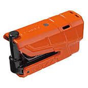 Elektronický zámek ABUS GRANIT Detecto X-Plus 8077 na kotoučovou brzdu s alarmem, oranžový