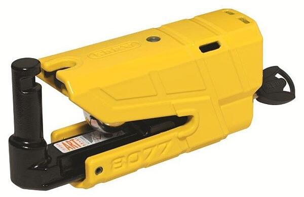 ABUS GRANIT Detecto X-Plus 8077 (žlutý) elektronický zámek na kotoučovou brzdu s alarmem