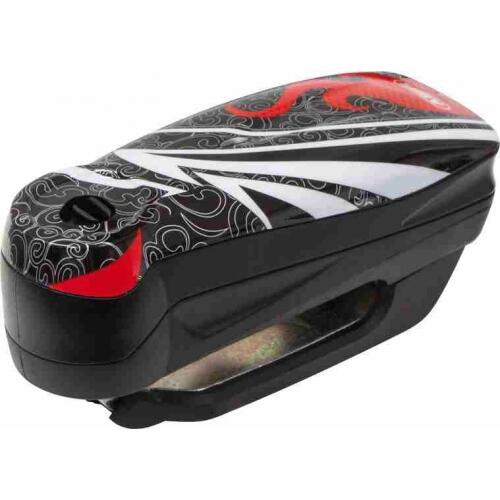 ABUS Detecto 7000 RS1 (flame black) elektronický zámek na kotoučovou brzdu s alarmem
