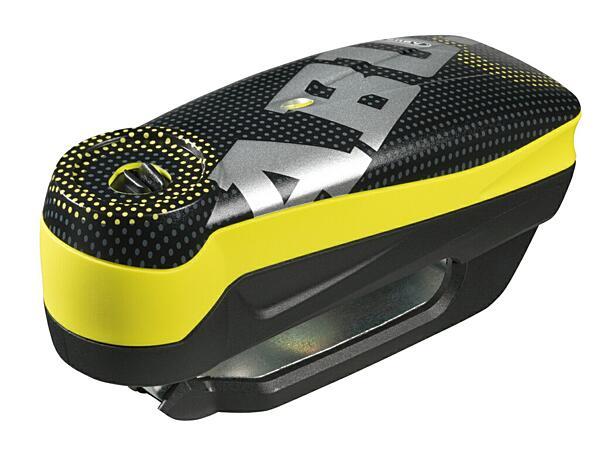 ABUS Detecto 7000 RS1 (pixel yellow) elektronický zámek na kotoučovou brzdu s alarmem