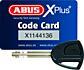 ABUS GRANIT Power XS 67/105HB50 + 12KS120 (žlutý) zámek s řetězem na motocykl