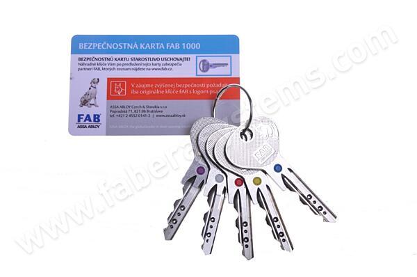 Klíč k vložce FAB 1000