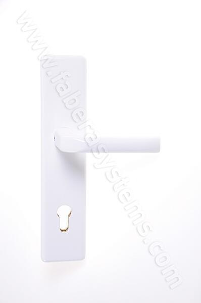 Bezpečnostní kování HOPPE LONDON bílá klika/klika bez překrytu, 92/8, 67-72mm
