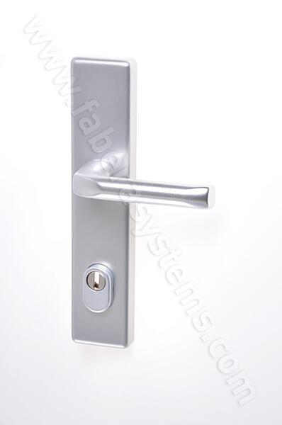 Bezpečnostní kování HOPPE LONDON F1 klika/klika s překrytem, 92/8, 67-72mm (obj.č.3766108)