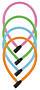 Lankový zámek na kolo ABUS 1900/55  (mix barev)