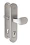 Bezpečnostní kování FAB BK325/90 IROX madlo-klika, s překrytem