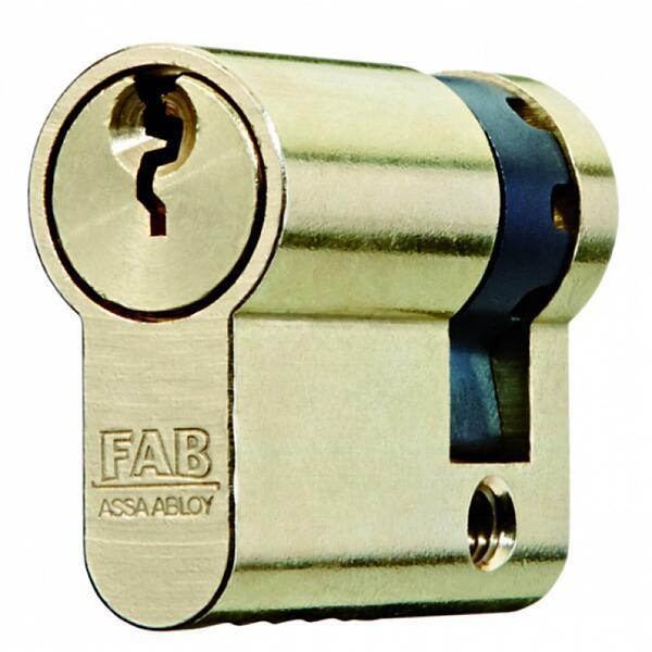 Cylindrická půlvložka FAB 201 RSGDZ/52+10, 3 klíče