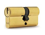 Stavební cylindrická vložka FAB 50D (30+50) 3 klíče