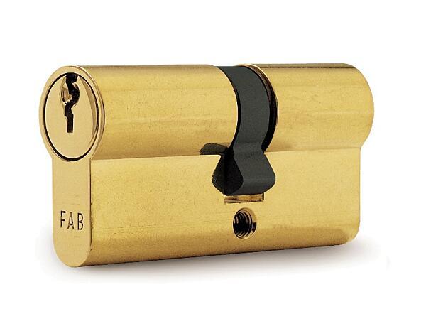 Stavební cylindrická vložka FAB 50D (30+40) 3 klíče