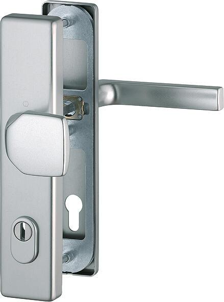 Bezpečnostní kování HOPPE DALLAS F69 nerez madlo/klika,s překrytem, 92/8, 67-72mm