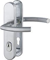 Bezpečnostní kování HOPPE TRONDHEIM s překrytem, klika/klika, nerez, 92/8, 67-72mm