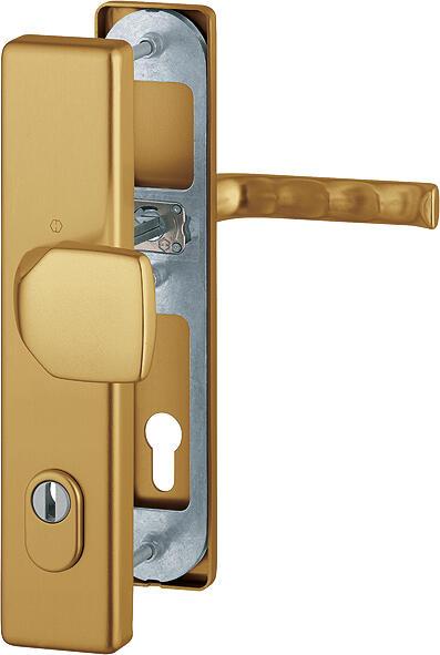 Bezpečnostní kování HOPPE LONDON F4 madlo/klika s překrytem, 92/8, 67-77mm (obj.č.3766221)