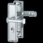 Bezpečnostní kování HOPPE LONDON F1 klika/klika s překrytem, 72/8, 67-72mm (7934)