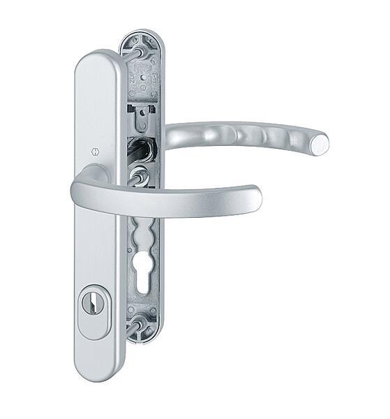 Bezpečnostní kování HOPPE LUXEMBOURG F1 klika/klika s překrytem, 92/8, 72-77mm