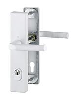 Bezpečnostní kování HOPPE LONDON bílá klika/klika s překrytem, 92/8, 67-72mm