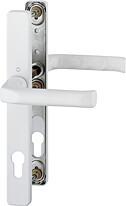 Bezpečnostní kování HOPPE LONDON úzký štítek bílá klika/klika, 92/8, 67-72mm