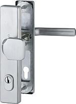 Bezpečnostní kování HOPPE DALLAS F69  madlo/klika s překrytem, 92/8, 67-72mm, nerez matný