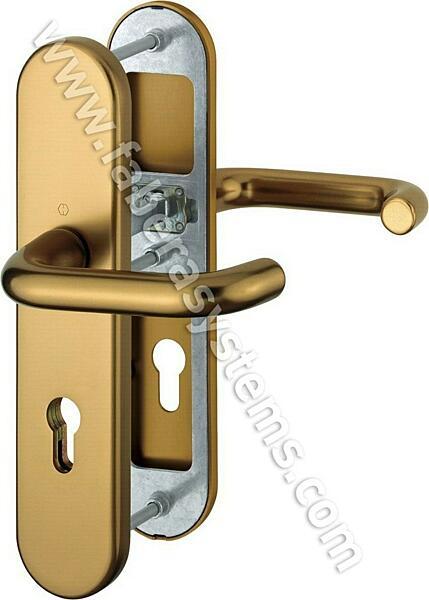 Bezpečnostní kování HOPPE PARIS F4 klika/klika bez překrytu, 92/8, 67-72mm(obj.č.3765607)