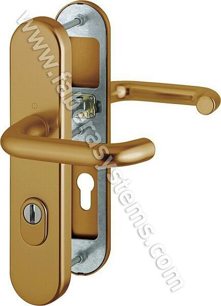 Bezpečnostní kování HOPPE PARIS F4 klika/klika s překrytem, 92/10, 67-72mm(obj.č. 3765210)