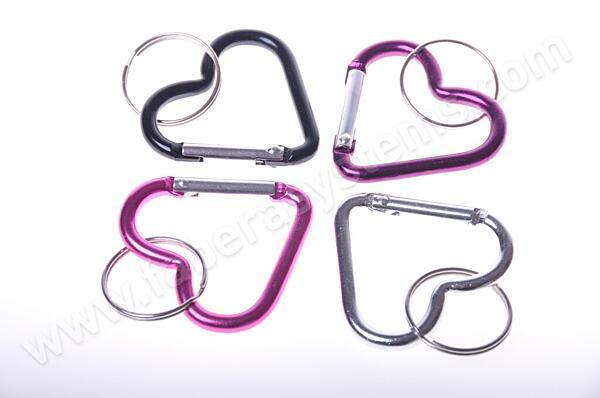 Přívěsek na klíče karabina horolezecká - srdce
