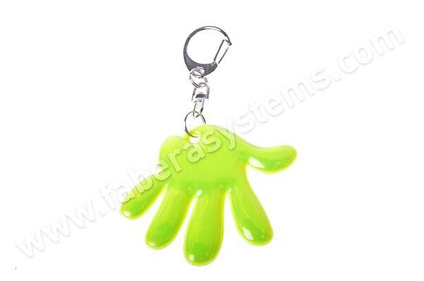 Přívěsek na klíče Reflexní ruka žlutá