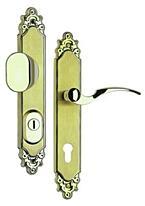Bezpečnostní kování ROSTEX R1/72, klika/madlo, titan, ozdobné, pravé, s překrytem