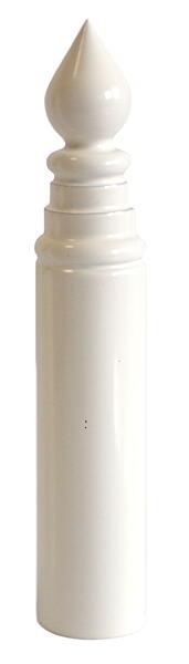 Návlek TRIO 15 UR14 ozdobný - lak bílý