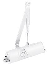Dveřní zavírač DORMA TS68 EN 2/3/4, aretační ramínko, bílý (RAL9016)