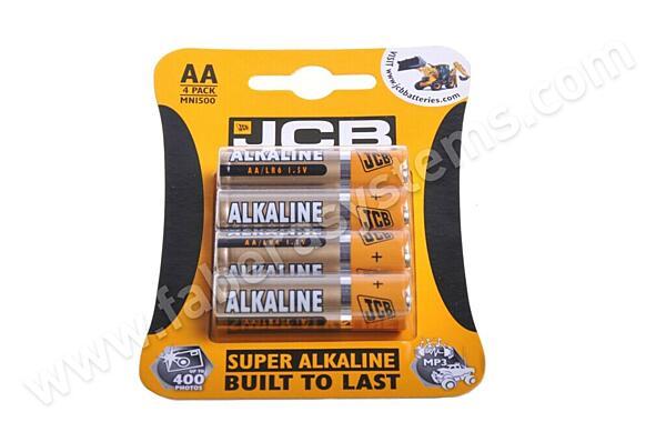 Alkalická tužková baterie JCB LR6/4 AA (4ks)