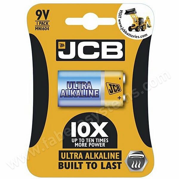 Alkalická baterie 9V JCB OXI ULTRA 6LR61