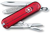 Kapesní nůž VICTORINOX Classic SD - červený transparentní