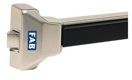 Panikové kování FAB 900000-61-0A stříbrné  (1-bodové) 900mm