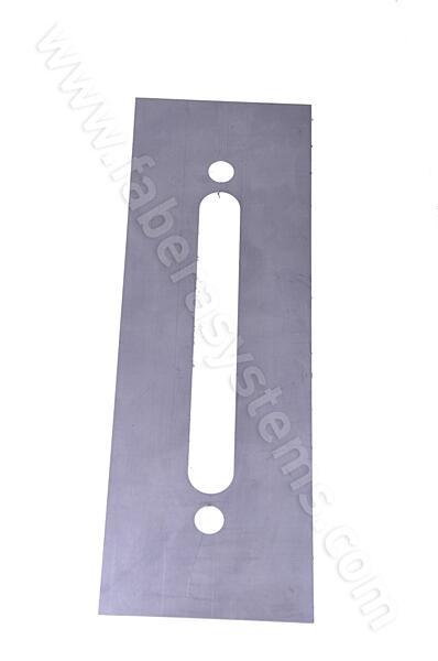 Plech pod dveřní kování ROSTEX 801 nerez (300x100mm)