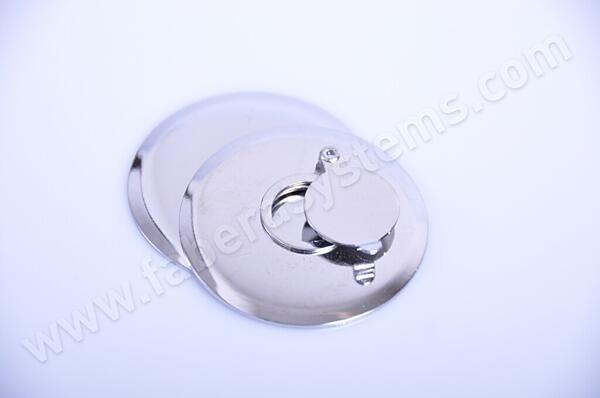 Podložka + kryt kukátka - stříbrný