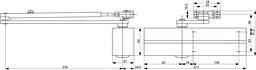 Dveřní zavírač FAB DC200 - stříbrný (bez ramínka)