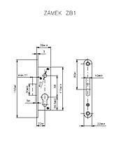 Zadlabací zámek ROSTEX ZB1 přídavný