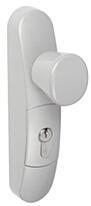 EN3300-11-0A vnější štít pro paniková kování řady FAB 89 stříbrný