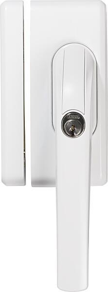 Uzamykatelná okenní klika ABUS FO400 se závorou bílá