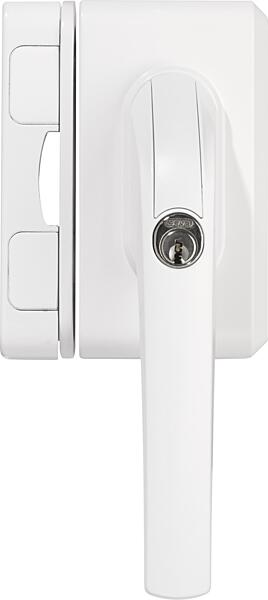 Uzamykatelná okenní klika ABUS FO500 se závorou bílá