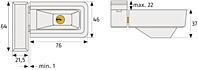 Přídavný okenní zámek ABUS 3030 hnědý