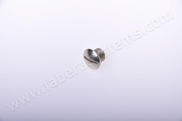"""šroub krycí pro vnitřní štít  do BK ROSTEX (""""hříbek""""), stříbrný"""