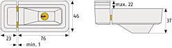 Univerzální přídavný zámek ABUS 3010 hnědý